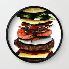 Graphic Burger Wall Clock