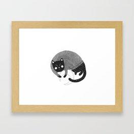 Night cat Framed Art Print