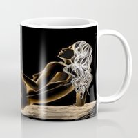 women Mugs featuring Women by Luciana Perrina