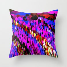 Rainbows and Waterfalls Abstract Throw Pillow