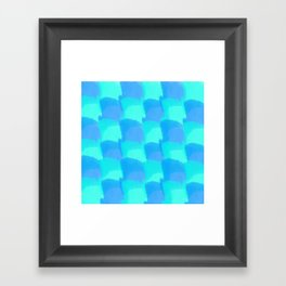 Bluesy Quilt Framed Art Print