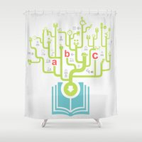 medicine Shower Curtains featuring Medicine the book by aleksander1