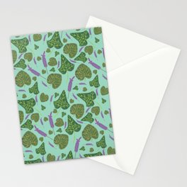 Watercolour Lavender, Ivy & Violet Leaves Stationery Cards