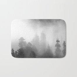 Harmony - Misty Mountain Forest Nature Photography Bath Mat