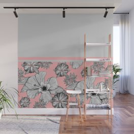Floral + Solids Wall Mural