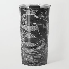 Black and White Abstract - Negative Style Random Pattern Travel Mug