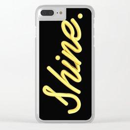 golden shine Clear iPhone Case