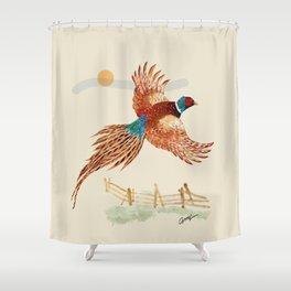 male pheasant Shower Curtain