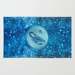 Scorpio Zodiac Sign Water element Rug