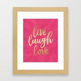 Live Laugh Love Framed Art Print