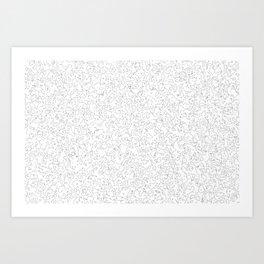 The salt sea Art Print