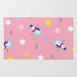 Snowflakes & Snowman_B Rug