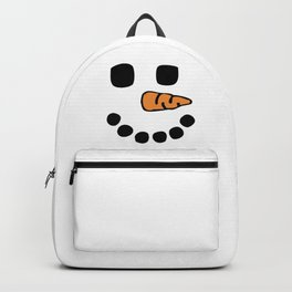 Snowman Face Halloween Snow Cold Winter Gift Backpack