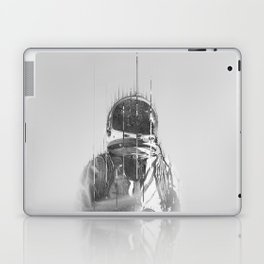 The Space Beyond B&W Astronaut Laptop & iPad Skin