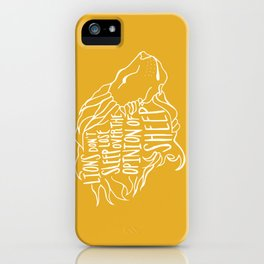 Lions don't lose sleep iPhone Case