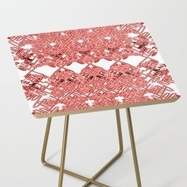 Red Lace Royshay  Side Table