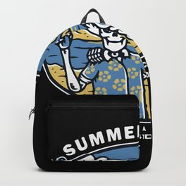 Skull Couple Beach Backpack