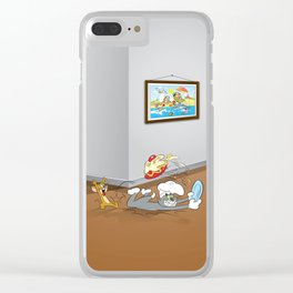 Fighting Cartoons II Clear iPhone Case