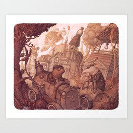 The Steam in the Willows Art Print