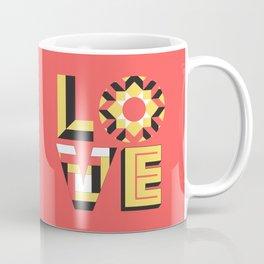 LOVE - Coral Coffee Mug