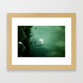 Become Haunted Framed Art Print