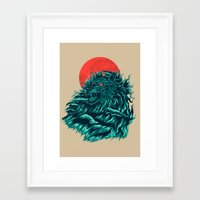 wave Framed Art Prints featuring wave by itssummer85