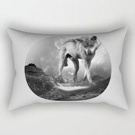 Galactic Wolf Rectangular Pillow
