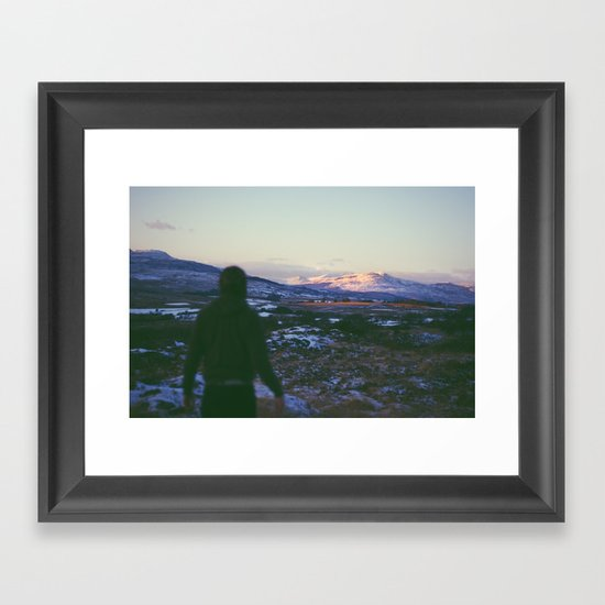 Looking Out To Snowdon Framed Art Print