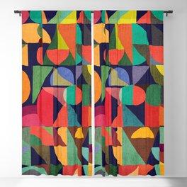 Color Blocks Blackout Curtain