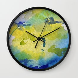 I dream in watercolor C Wall Clock