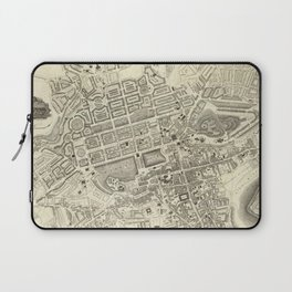 Vintage Map of Edinburgh Scotland (1844) Laptop Sleeve
