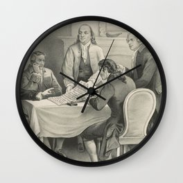 Vintage Illustration of the Declaration Committee Wall Clock