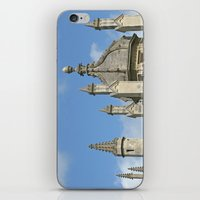 spires iPhone & iPod Skins featuring Spires of All Souls by Ann Horn