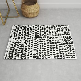 Flowing dots 02 Rug