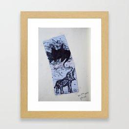 Greasy Elephant Framed Art Print
