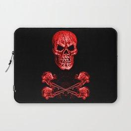Skull And Crossbones Red Laptop Sleeve