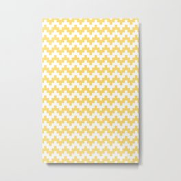 GOLD ABSTRACT WAVE PATTERN Metal Print