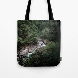 Japanese river and forest Tote Bag