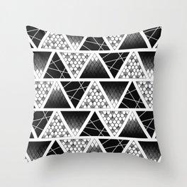 Zentangle Triangles Throw Pillow