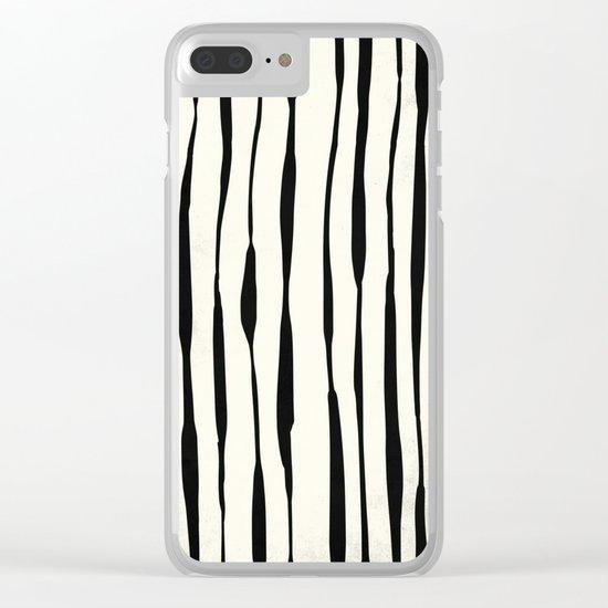 Retro Stripe Reverse Clear iPhone Case