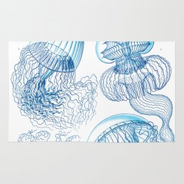 Jellyfish - Ocean Art Rug