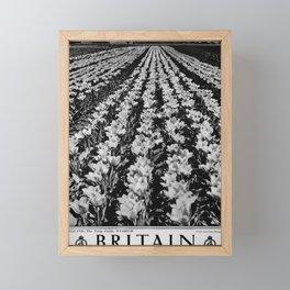 retro monochrome Britain Framed Mini Art Print