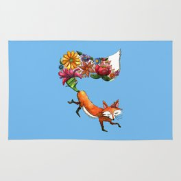 Hunt Flowers Not Foxes Rug