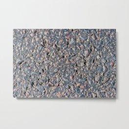Asphalt and pebbles texture Metal Print