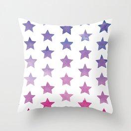 Watercolour Stars Ombre Throw Pillow