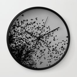 STARLINGS IN THE CITY Wall Clock