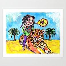 Charmed Tiger Art Print