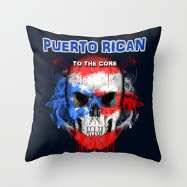 To The Core Collection: Puerto Rico Throw Pillow