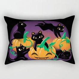 Hello Cat Halloween Rectangular Pillow