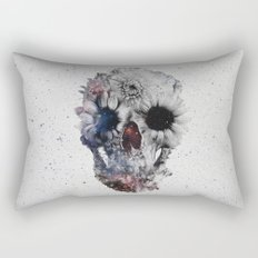 Floral Skull 2 Rectangular Pillow
